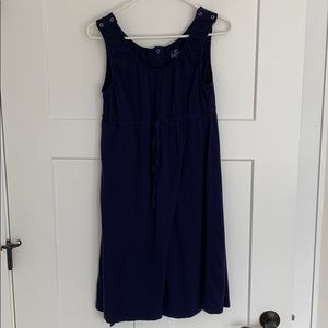 Delivery robe, navy blue hospital gown